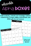 Alpha Boxes Graphic Organizer