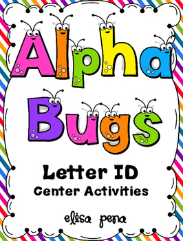 Alpha Bugs Letter ID Center Activities