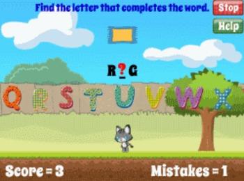 Alpha Cat - Alphabet and Phonics Reading Game (Playable at RoomRecess.com)
