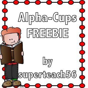 Alpha Cups FREEBIE
