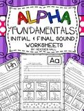 Alpha 'Fun'damentals! {Initial & Final Sound Alphabet Worksheets}