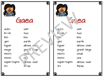Alpha: Greek and Latin Roots Set One