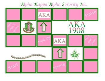 Alpha Kappa Alpha Themed Board Game