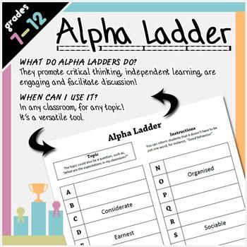 Critical Thinking Alpha Ladder