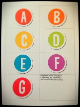 Alpha Letter Button Flashcard