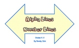 Alpha Lines and Number Lines