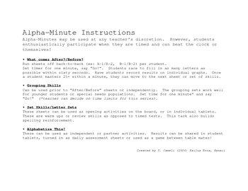 Alpha Minutes - Before Set