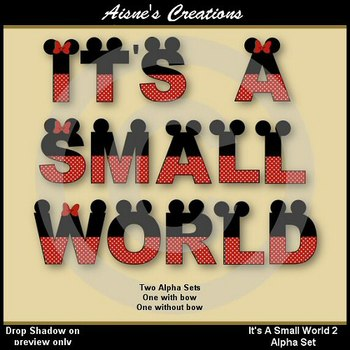 Alpha & Numbers - It's A Small World 2 Clip Art Set