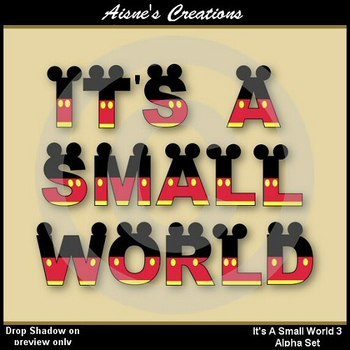 Alpha & Numbers - It's A Small World 3 Clip Art Set