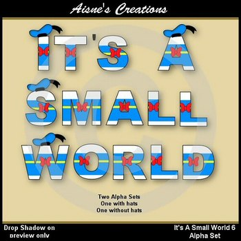Alpha & Numbers - It's A Small World 6 Clip Art Set