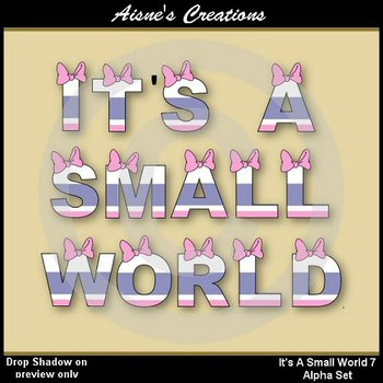 Alpha & Numbers - It's A Small World 7 Clip Art Set