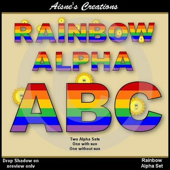 Alpha & Numbers - Rainbow Clip Art Set