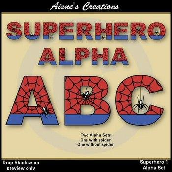 Superhero Spiderman Alphabet & Numbers
