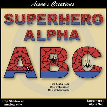 Superhero Spiderman Alphabet & Numbers