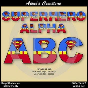 Superhero Superman Alphabet & Numbers