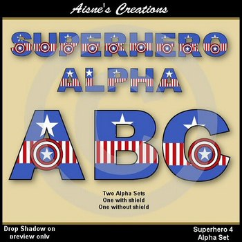Superhero Captain America Alphabet & Numbers