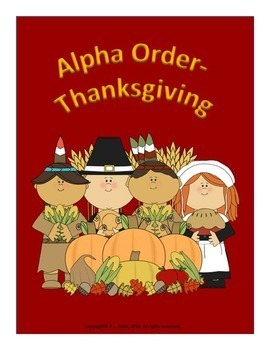 Alpha Order Thanksgiving
