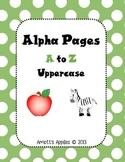 Alpha Pages - Uppercase A to Z