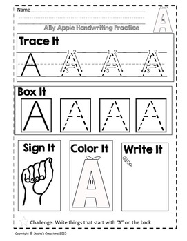 Trace It, Box It, Write It, Sign It & Read It: Alpha Pals