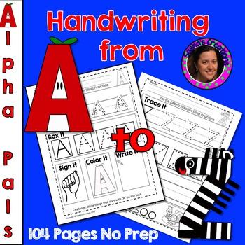 Trace It, Box It, Write It, Sign It & Read It: Alpha Pals