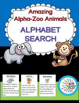 Alpha-Zoo Animals Alphabet Search