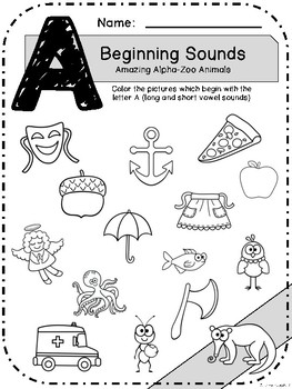 Alpha-Zoo Animals Beginning Sounds