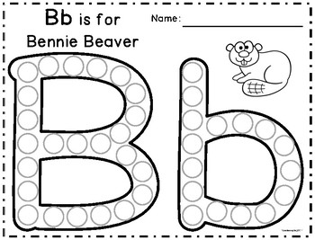 Alpha-Zoo Animals Dot Marker Letters