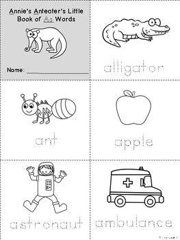 Alpha-Zoo Animals Mini-books