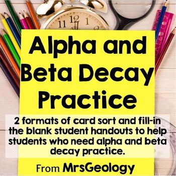 Alpha and Beta Decay Practice (Radioactive Cascade)