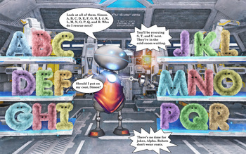 Alpha the Alpha-bot Guardian of the Alfurbets- PreK and Kindergarten ABC book