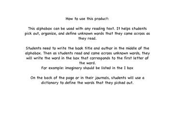AlphaBox (Reading Vocabulary)