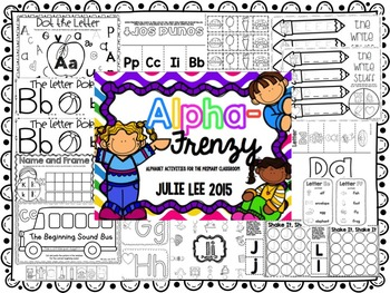 AlphaFrenzy Alphabet Activities