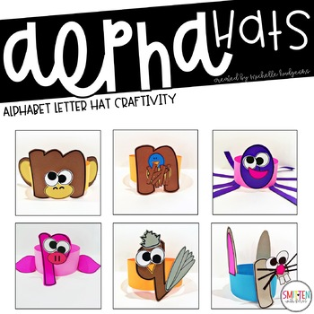 AlphaHATS (alphabet letter hats for letter sounds and letter of the week/day)