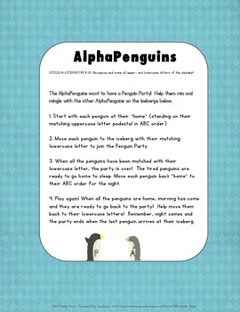 AlphaPenguins Folder Game