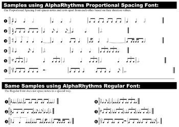 AlphaRhythms Font Set - for PC Only