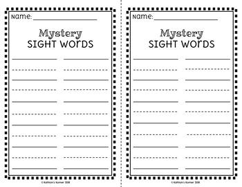 AlphaSounds Mystery Sight Words {Dolch Pre-Primer-1st grade}