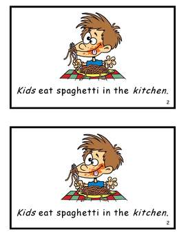 AlphaToons Guided Reader: Kids in the Kitchen