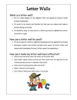 AlphaToons Letter Walls: Tips for Teachers