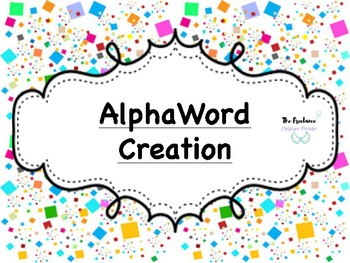 AlphaWord Creation