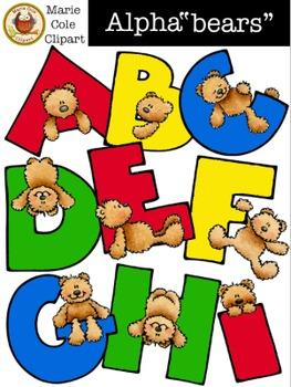 "Alpha""bears"" Alphabet [Marie Cole Clipart] UPDATED!"