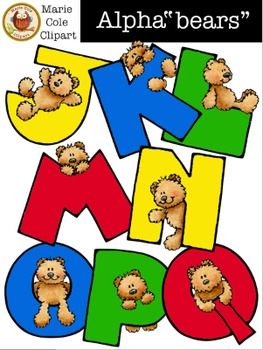 "Alpha""bears"" Alphabet [Marie Cole Clipart] UPDATED!"