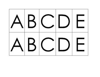 Alphabet & 0-9 Match File Folder Game