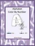 Color By Code Alphabet Special Education, Kindergarten, Fine Motor Skills