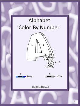 Alphabet Color by Number NO PREP Coloring Pages
