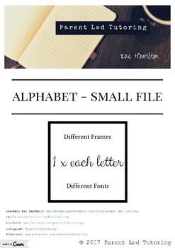 Alphabet (1 x design / letter)