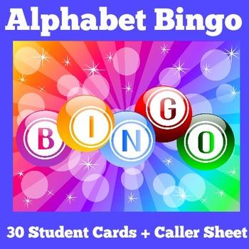 Alphabet Bingo | Alphabet Bingo Printable | Alphabet Games