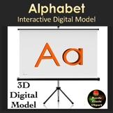 Alphabet 3D Digital Models for Whiteboards and Smartboards