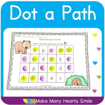 Dot a Path: Letters