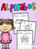 Alphabet Handwriting and Coloring