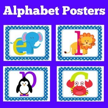 Alphabet Posters | Alphabet Cards | Kindergarten Alphabet Posters